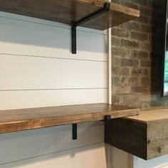Black Iron Shelf Bracket | Etsy Shelf Brackets Industrial, Steel Shelf Brackets, Draw Handles, Coffee Table Legs, Iron Shelf, New Home Gifts, Wooden Shelves, New Homes, Etsy