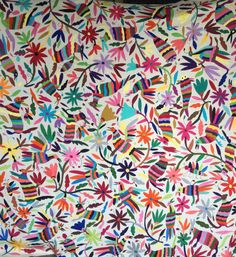 Mexican Otomi fabric.  Imagine this on upholstery or pillows!