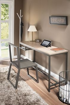 45 Amazing Home Office Ideas & Design – Page 6 of 45 – SooPush - Zimmereinrichtung Office Furniture Design, Office Interior Design, Office Interiors, Office Desk For Sale, Home Office Desks, Steel Furniture, Home Furniture, Furniture Plans, System Furniture