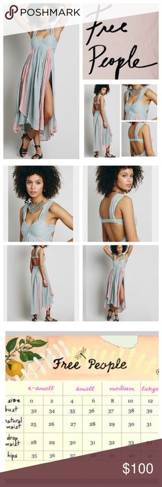 """Free People Gnarly Vines Gauze Dress.  NWOT. Free People New Romantics Gnarly Vines Maxi Dress, 100% cotton, washable, 15"""" armpit to armpit (30"""" all around), 45"""" shortest point length, 53"""" longest point length, embroidered gauzy maxi with simple cotton bodice, featuring a ruched sweetheart neckline and pleated straps, back straps features two stretchy panels for comfortable ware, hidden back zip closure, stubby textures, FP color is washed black, measurements are approx. New without tag…"""