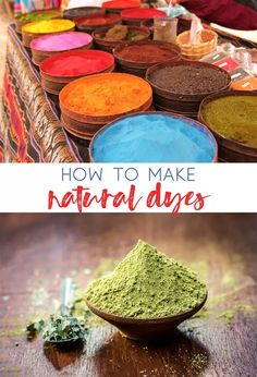Basic Dyes-How to Make Natural Pigments at Home Powder Dye, Natural Dye Fabric, Homemade Paint, Earth Pigments, Organic Matter, Nature Paintings, Nature Crafts, How To Dye Fabric, Natural Living