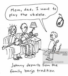 Ukulele funny cartoons from CartoonStock directory - the world's largest on-line collection of cartoons and comics. Funny Cartoon Images, Funny Cartoons, Funny Comics, Funny Pictures, Music Jokes, Music Humor, History Cartoon, Reading Cartoon, Funky Quotes