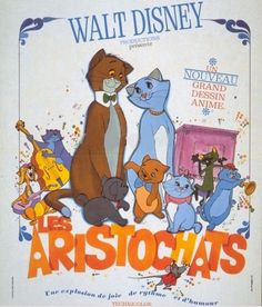 Day Underrated Movie- A lot of people I talk to say they've never seen the Aristocats but I think it's one of the best movies Disney has made! Walt Disney Animated Movies, Old Disney Movies, Disney Movie Posters, Film Disney, Disney Cartoons, Disney Pixar, Disney Love, Disney Magic, Animation Disney