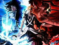 True power comes with acceptation of who we really are, and Ichigo accepted that he is a Shinigami, Quincy and Hollow. This drawing was made by: Maithagor. If you like the anime & video games, you. Bleach Ichigo Bankai, Anime Bleach, Bleach Ichigo Hollow, Ichigo E Orihime, Bleach Fanart, Shinigami, Bleach Characters, Anime Characters, Fanarts Anime
