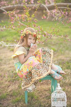 pink flower tree orchard garden portrait pictures photogrpahy greensboro mebane burlington hillsborough nc melissa treen photography matilda jane clothing