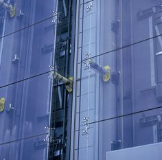 Detail of exterior of Montevetro building London. Richard Rogers + Partners.