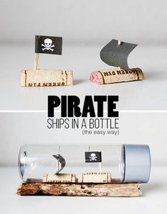 Make your very own Pirate Ships in a Bottle!