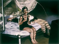 black and white - couple - figurative painting - Eric Fischl