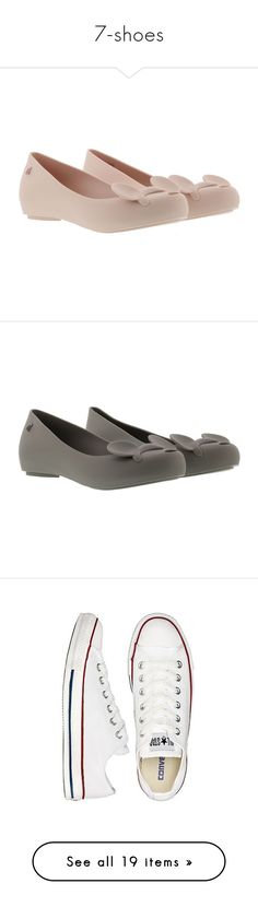 """7-shoes"" by cristinamariaalvarezramirez ❤ liked on Polyvore featuring shoes, flats, light pink, womenshoesflat shoes, ballerina flats, melissa flats, light pink flats, ballet shoes, ballerina shoes and grey"