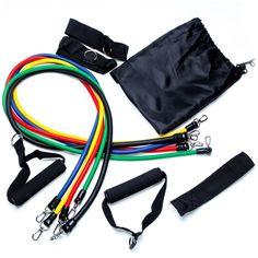 KevenAnna Exercise Resistance Bands best home gym fitness resistance tubes with Ankle Straps, Door Anchor,Exercise Chart, and stretch bands with Carrying Case * New and awesome product awaits you, Read it now  : Weight loss Accessories