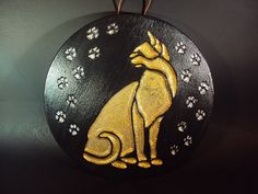 Cat Stone Pharoah's Cat Wall Hanging Hand by MountainArtCasting, $33.00