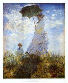 Madame Monet and Her Son - Affischer av Claude Monet på AllPosters.se
