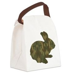 Camouflage Easter Bunny Canvas Lunch Bag > Lunch Bags > Atteestude T-Shirts And Gifts  #school supplies