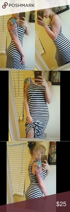 Striped Maxi Dress Black and white striped Maxi dress. Dresses Maxi