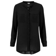 Hilo chiffon lange dames blouse zwart
