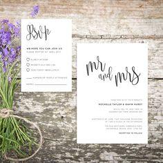 Printable Wedding Invitation/ RSVP/ Save the by GreybeePrintables #wedding invite