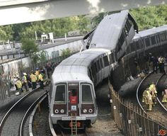 Metro Train Derailment Pictures