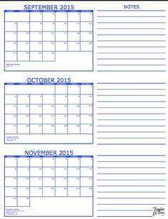 90 Day Calendar Template   Montly Calendar   Pinterest ...