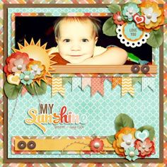 You are My Sunshine by Jady Day Studio, part of the August 2013 Scrap Pack at Scrap Stacks: http://scrapstacks.com /scrappack/   I love these clusters.