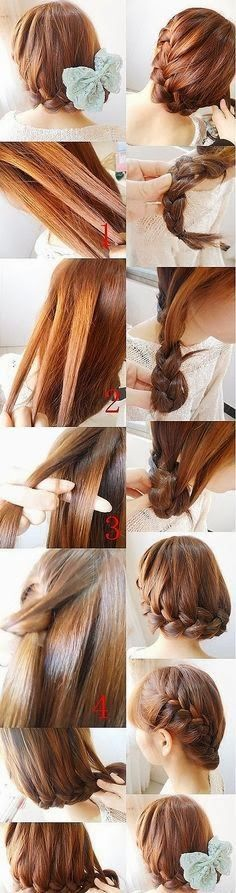 Admirable Braided Hairstyles Step By Step And Hairstyles On Pinterest Hairstyles For Women Draintrainus