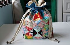 my first drawstring pouch/bag by FarahLin, via Flickr
