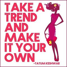 Make trends work for you! https://www.facebook.com/zr.designerwear