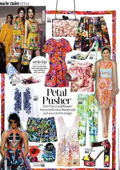 Marie Claire makes room for Petals in April 2013