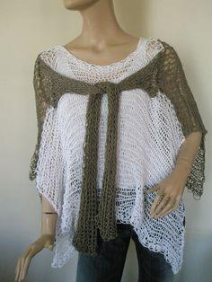 Chocola and white multifunctional knitted by elenashandmade