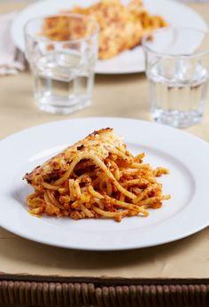 Húsos makaróni | Street Kitchen Ravioli, Pasta Recipes, Macaroni And Cheese, Spaghetti, Pork, Ethnic Recipes, Kitchen, Food, Beverages