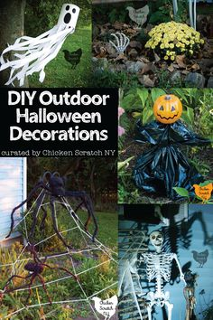 Take your Halloween Spirit outside with any and all of these DIY Outdoor Halloween Decoration tutorials #HalloweenDIY #Halloweendecorations Halloween Sewing Projects, Easy Halloween Crafts, Cheap Halloween, Homemade Halloween, Outdoor Halloween, Halloween Kids, Halloween Witches, Halloween Party, Halloween Yard Displays