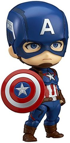 Avengers: Age of Ultron - Captain America: Hero's Edition [Nendoroid Brand New Game (Sealed), Japanese Version, compatible with US systems (region free). Dispatched directly from Japan with Tracking Number (average time to US days). Age Of Ultron, Captain America Toys, Captain America Wallpaper, Figurine Avengers, Comic Book Heroes, Comic Books, Baby Spiderman, Baby Clip Art, Cartoon Wallpaper Iphone