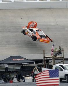 Joey and his flying car at Dover in 2009.  He needs to learn to enunciate.  I don't care for him at all.  Tony Stewart said it all after he went after Joey...a spoiled rich kid.
