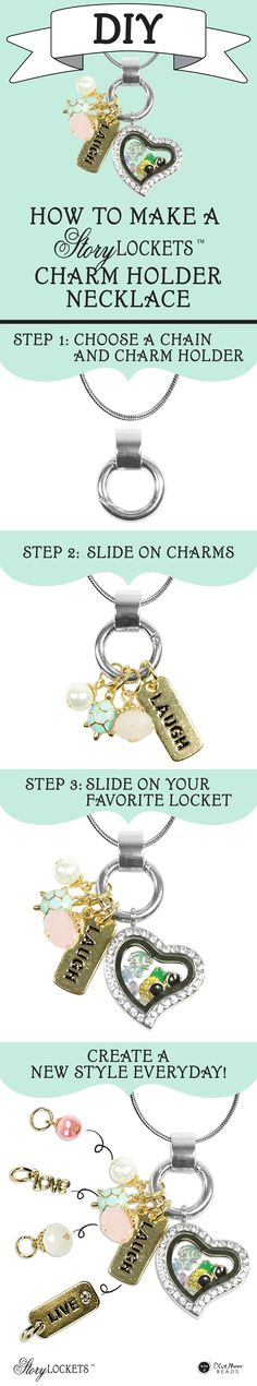 Tell your story with an easy to make Story Lockets Charm Holder Necklace. Follow these simple steps to create one for yourself or as a special gift.
