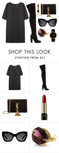 """""""Untitled #63"""" by rodoulla97 on Polyvore featuring Non, Gianvito Rossi, Yves Saint Laurent, Lancôme, Karen Walker and Larsson & Jennings"""