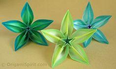 Origami Maniacs: CARAMBOLA FLOWER BY CARMEN SPRUNG