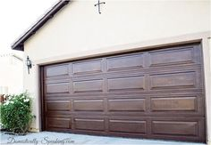 mini wax gel stain garage door in hickory