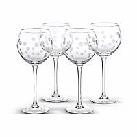 Frosted Dots Stemware (set of 4) : Entertaining : The Pampered Chef, Ltd.