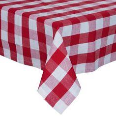 BELLA NONNA Tischdecke Karo rot/weiß 140 x 140 cm - Tischdecken