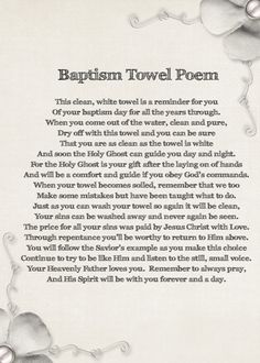 Primarily LDS: Baptism Towel Gift Idea