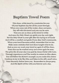 baptism towel