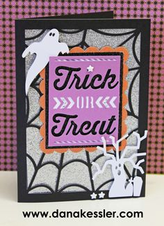Halloween Card Artfully Sent Ghost Spider #scraptabulousdesigns #ctmh #cricutexplore