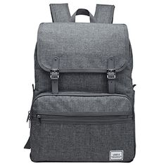 ULAK Casual Lightweight College Backpack Fits 15inch Laptop Bag School Travel Daypack Grey *** ** AMAZON BEST BUY **
