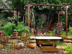 Jeffrey Bale's backyard, outdoor bathing though I don't know if people really do that. Looks cool?