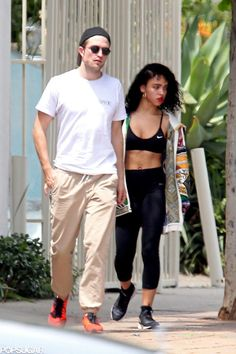 Robert Pattinson Is All Smiles With His Ab-Baring Fiancée Ahead of His Birthday: Robert Pattinson had his arms around his fiancée, FKA Twigs, when the couple stepped out in LA on Monday.