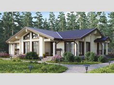 Cottage House Designs, Cottage Homes, House In Nature, House In The Woods, Porches, Farm Layout, New Home Designs, Home Projects, New Homes