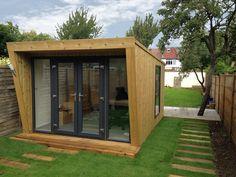Pinnacle 3x4m garden room with Norwegian spruce cladding and 3m French door window combi set, from £12,995 (inc. VAT)