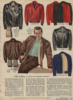 Men's leather jackets can be a vital component to each and every man's closet. Men require jackets for several functions as well as some weather conditions. Men's Jacket Online. 1950s Fashion Menswear, Gents Fashion, Big Men Fashion, Best Mens Fashion, Urban Fashion, Winter Fashion, Fashion Styles, Mens Catalogue, Fashion Catalogue