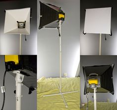 """New Flickr Profile Found At www.flickr.com/davegruentzel   for the light i used some 250w work lights that i found on sale for $4 each, killer deal. but be careful, they do get hot.  the box was made out of two sheets of white 20inx30in foam core, about $3 per sheet. if i was to do it again i would use foam core that has white on one side and black on the other so i dont have to use the black duck tape.  the stand is PVC and is adjustable in hight, about $6 for all of the PVC. i used 3/4""""…"""