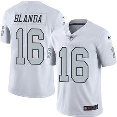 Oakland Raiders #16 George Blanda Limited White Rush NFL Jersey