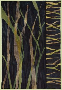 """image of quilt titled """"Leaves of Grass"""" by Barbara Nepom © 2008"""